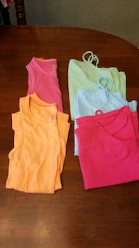 5 girls tank tops. Size 10-12.