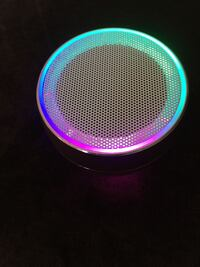 Round black and gray portable speaker Los Angeles, 90003