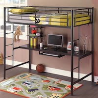 Twin Loft Bed with Desk $100 firm Alexandria, 22311