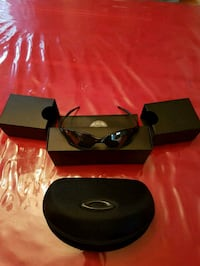 black framed sunglasses with case Laval