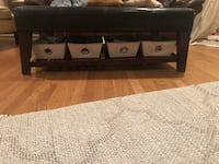 Leather and wood coffee table Potomac, 20854