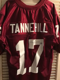 Ryan Tannehill signed maroon college style Jersey... Miami, 33176