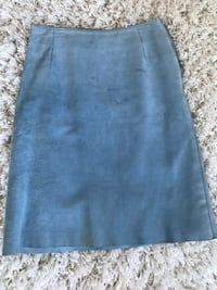 Roots blue suede skirt size 6