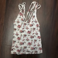 white and red floral spaghetti strap top Henderson, 89014