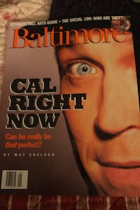 Rare local Baltimore Magazine with Cal Ripken on cover September 1995 Beltsville, 20705