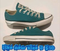 pair of blue-and-white low top sneakers Las Vegas, 89169
