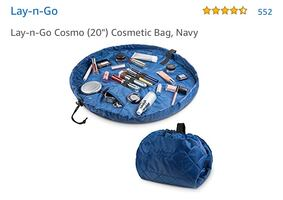 Lay-n-Go Cosmo Navy Cosmetic Bag ($30)