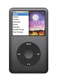 6th gen 120 gb ipod classic in black
