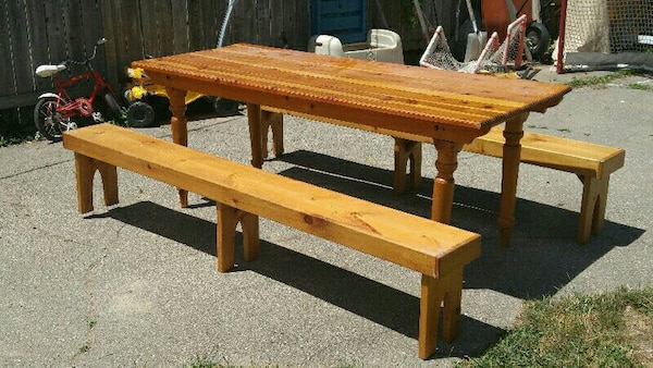 Brilliant Large Pine Harvest Table Benches Chairs Alphanode Cool Chair Designs And Ideas Alphanodeonline