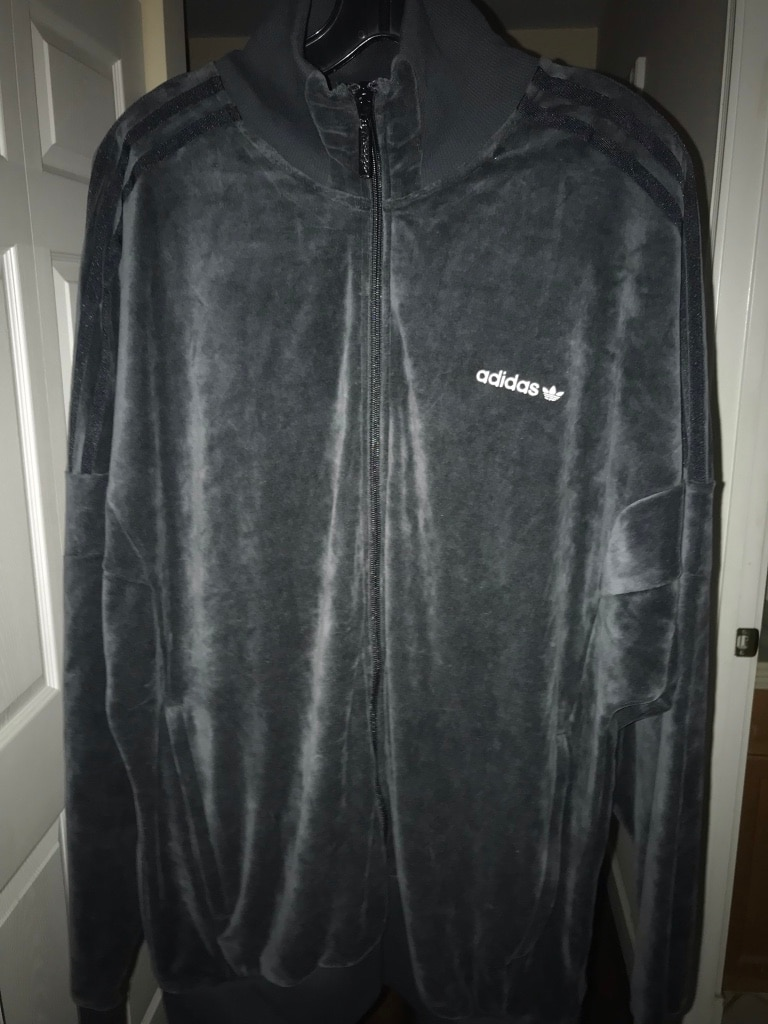 Velour Adidas Tracksuit Top