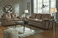 Speyer Bark Sofa & Loveseat   Houston