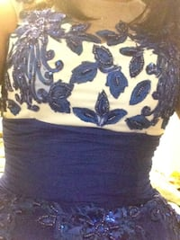 Beautiful blue evening gown with sequins size medium 537 km