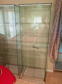 Beautiful Glass Cabinets - $250 Each Sterling