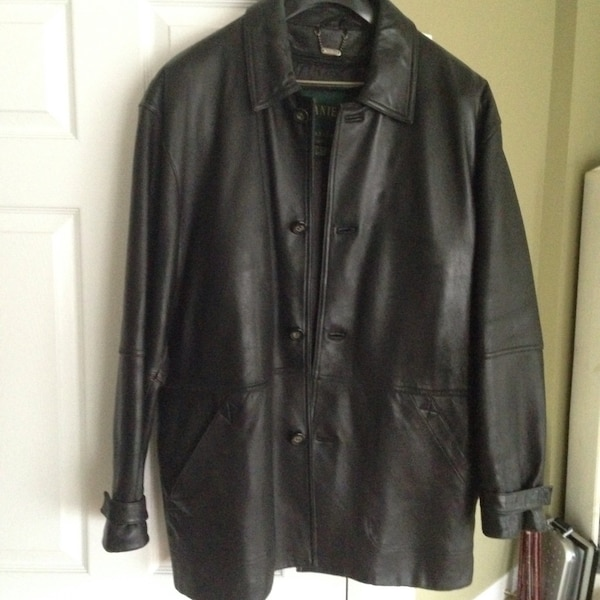 Danier leather coat large men's