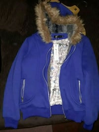 blue and brown fur jacket Millville, 08332