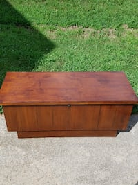 brown wooden 2-drawer chest DECATUR