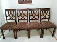 four brown wooden framed padded chairs Martinsburg, 25404