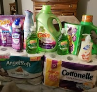 assorted toiletries and Gain bottles Charter Township of Clinton, 48035