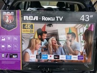 """NEW RCA 43"""" 4K ROKU!! SMART LED TV ON ONLY $270 NO TAX! FIRM PRICE. Toronto, M1P"""