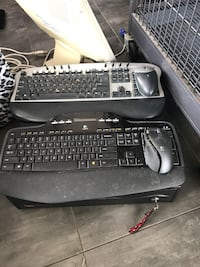 two black and black-and-white computer keyboard Port Hueneme, 93041