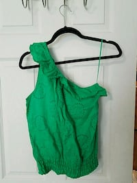 XS EXPRESS kelly green one shoulder top Fairfax Station, 22039