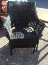 Black wicker chairs  Hyattsville, 20784