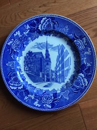 """Wedgewood 10 1/4"""" Plate Old North Christ Church Shreve Crump Low Co Mountain View, 94043"""