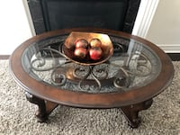 Coffee table with two side tables.   Vaughan