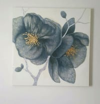 two black-and-red flower paintings Miami, 33174