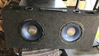 """2.  10"""" subwoofers with box"""