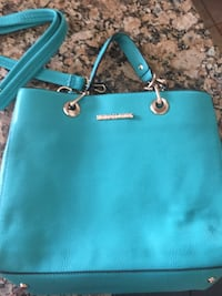 women's teal leather tote bag Vero Beach, 32967