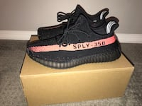 pair of black Adidas Yeezy Boost 350 V2 with box San Diego, 92154