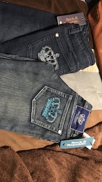 two blue Miss Me denim jeans
