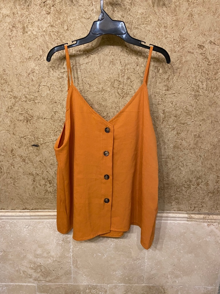 Photo Nwot! Burnt orange v-neck shirt/blouse (xl)