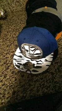 blue and white New York Yankees fitted cap Sacramento, 95841
