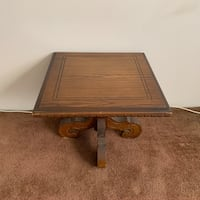 BROWN ANTIQUE OAK WOOD TABLE  Vancouver, V5T 2M5