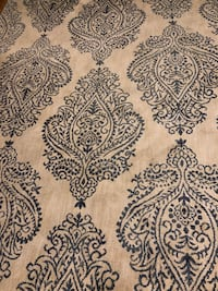 Creme and Blue Pattern Area Rug San Francisco, 94109