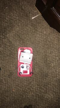 White and red iPhone 6s case