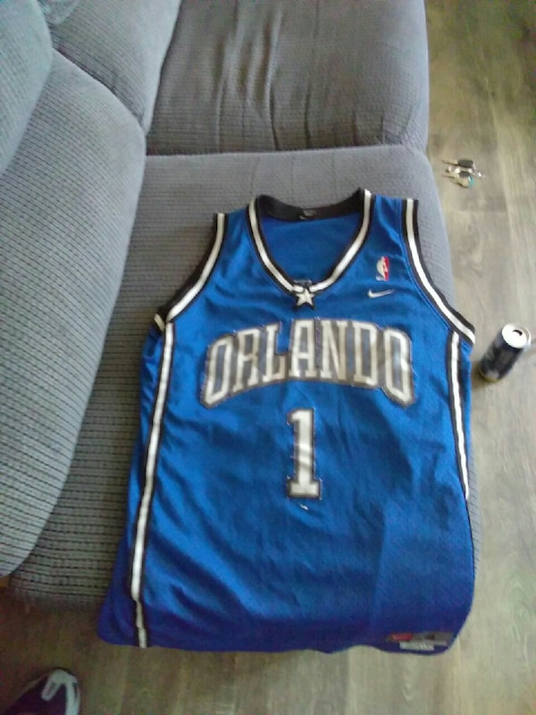 9b35d989a Used blue Nike Orlando Magic Tracy McGrady jersey for sale in ...