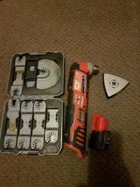 m12 milwaukee  multi tool batyery and attachments included. Edmonton