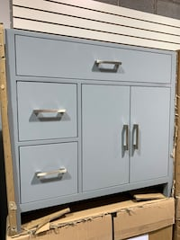 """36"""" Contemporary Single Sink Bathroom Vanity Cabinet With Drawers im"""