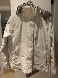 Kway Ski jacket in white. Removable hoody. Waterproof.  West Vancouver, V7T 1M3