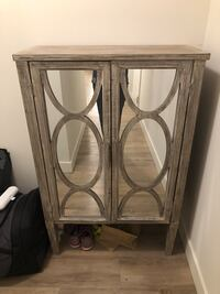 brown wooden framed glass cabinet Toronto, M5H 3M7