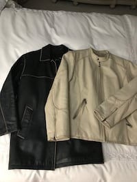 2 Men's Leather Jackets, size Large Montréal, H1J