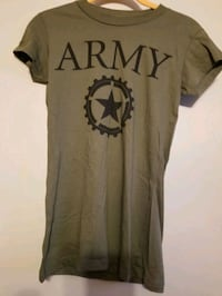 Army green t-shirts size medium youth size
