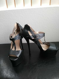 "Black 6"" stilettos size 9 like new stiletto Henderson, 89074"