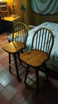two brown wooden windsor chairs Toronto, M3H 2V6
