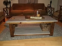 Rustic wood coffee table with side tables to match 2277 mi