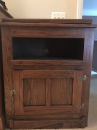 Solid oak tv stand and cabinet