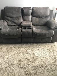 Gray suede leather motorized recliner Cambridge, N3H 5N9